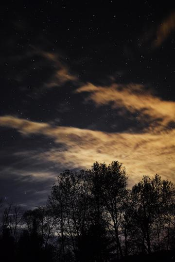 Clouds and stars make for a very photogenic night sky